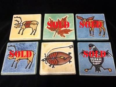 "ART TILE 4"" ASRT ANIMALS"