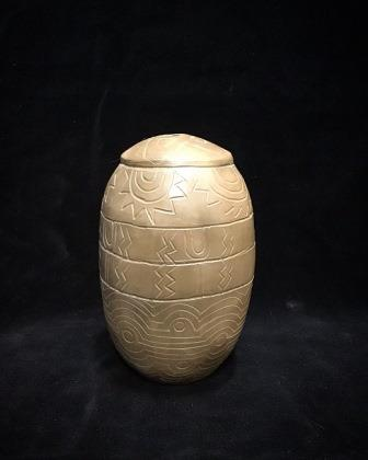 "POT SEED 4"" TALL INCISED"