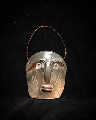 *SOLD* MASK CLAY W COPPER WIRE SMALL