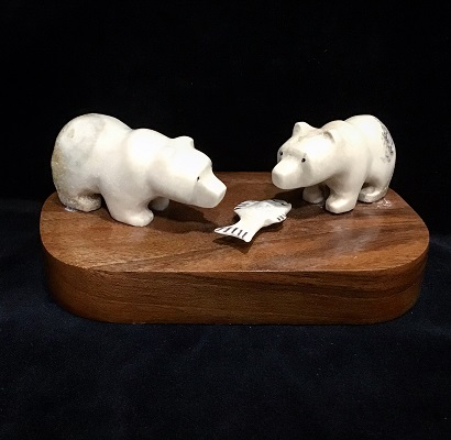FET 2 BEARS & FISH - MOOSE SKULL