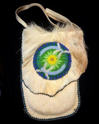 DEERSKIN BAG & MEDALLION