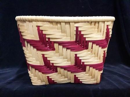 BASKET ARROW TWILL BURGUNDY