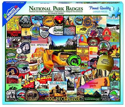 PUZ NATIONAL PARK BADGES 1000 PIECES,1057PZ