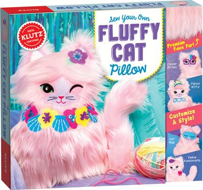 KIT FLUFFY CAT PILLOW, SEW YOUR OWN,856621