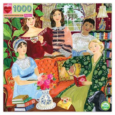 PUZ JANE AUSTEN'S BOOK CLUB 1000 PC SQUARE,PZTJAB