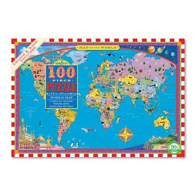 PUZ WORLD MAP 100 PC,PZWR2