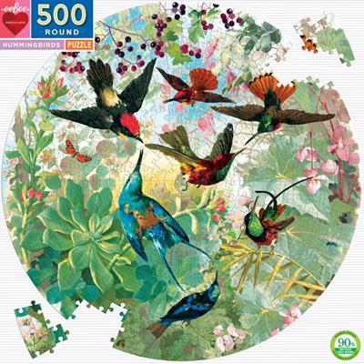 PUZ HUMMINGBIRDS 500 PC ROUND,PZFHMB